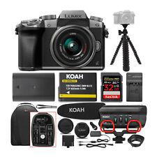 Panasonic LUMIX G7 Mirrorless Camera (Silver) with 14-42mm Lens and Koah Mic