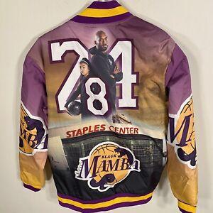 Kobe Bryant + GiGi Jacket RIP Varsity GOAT Black Mamba sz M Mens LA Lakers New