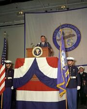 President John F. Kennedy gives speech aboard USS Enterprise New 8x10 Photo