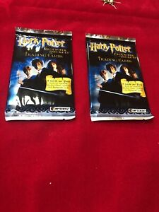 Harry Potter And The Chamber Of Secrets Artbox Cards 2 Sealed Packs!!!