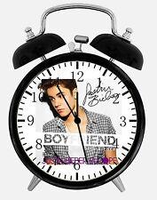 "Justin Bieber Alarm Desk Clock 3.75"" Home or Office Decor W456 Nice For Gift"
