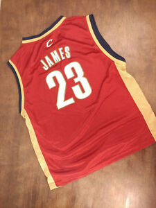 Auth NBA Adidas Jersey King LeBron James #23 Cleveland Cavaliers Sz Youth 14-16