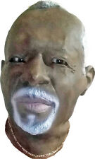 Realistic latex full head black african american man male mask halloween old