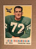 1959 Topps Football Card #174 - Jess Richardson - Philadelphia Eagles
