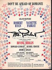 Don't Be Afraid of Romance1962 Mr President Sheet Music