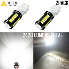 Alla Lighting 33-LED 3157 White Turn Signal Blinker Light Bulb|Center Stop|Tail
