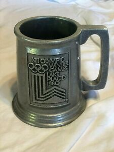 XIII Olympic Winter Games Lake Placid 1980 Pewter Stein Mug *ESTATE FIND*