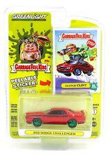 1:64 GreenLight *GREEN MACHINE* 2012 Dodge Challenger *GARBAGE PAIL KIDS* NIP!