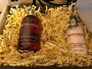 BNIB Molton Brown Paradisiac Pink Pepperpod Bath & Shower 300ML & Body Cream 200