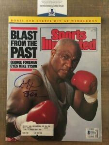 George Foreman 1989 Sports Illustrated Magazine signed autographed BAS Beckett