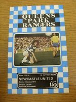 03/01/1976 Queens Park Rangers v Newcastle United [FA Cup] . Footy Progs/Bobfran