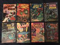 HORROR & SCI-FI lot of 8 comics Outer Limits #1, Voyage Bottom of Sea #1, Planet