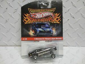 Hot Wheels Drag Strip Demons #3 Black '71 Mustang F/C Plueger & Gyger Mustang