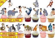46 JUNGLE BOOK Cup Fairy Cakes Edible Wafer Rice Toppers Birthday Stand up