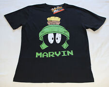 Looney Tunes Mens Marvin Black Printed Short Sleeve T Shirt Size XL New