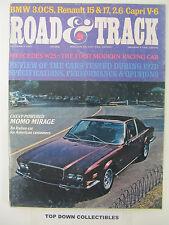 Road and Track Magazine    December  1971   Italian Car  MOMO Mirage