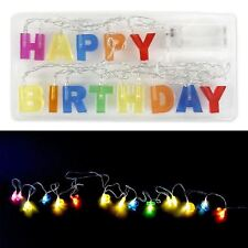 Happy Birthday Led Lights Sign Battery Operated String 5.5Ft Party Decorators