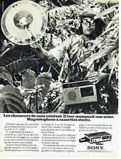 Publicité Advertising 087  1974  magnétoscope Sony  à cassette stéréo TC 152SD