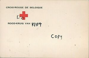 WW1 Military Art Belgian Red Cross letter of condolence ? 3 soldier ? signatures