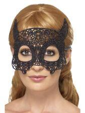Mujer Encaje Bordado filigrana Devil Antifaz Disfraz