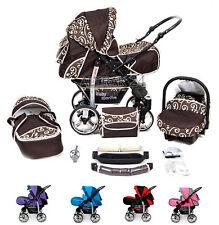 Kinderwagen 3in1Softtragetasche Sportwagen Buggy Stroller  Autositz Schwenkräder