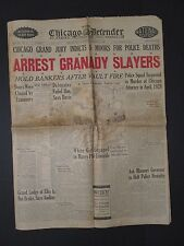 ANTIQUE 1929 CHICAGO AFRICAN AMERICAN NEGRO BASEBALL GANGSTERS GRANADY DEATH ADS