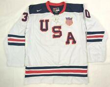 Tim Thomas #30 Team USA 2010 Winter Olympics NIKE Hockey Jersey Men's Size XL