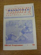 20/03/1971 Rugby League Programme: Wakefield Trinity v Barrow (Writing On front)