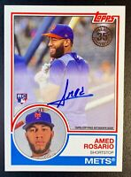 2018 Topps 35th Anniversary AMED ROSARIO Autograph Rookie #83A-AS New York Mets