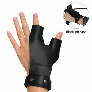 Archery 2 Finger Guard Protector Gear Leather Left Hand Recurve Bow Hunting