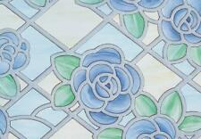 Fablon Amiens Blue Self Adhesive Window Film 2 M X 67.5 cm Kitchen Bathroom