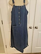 Midi Denim Jumper with Side Slits by Directives Size Medium