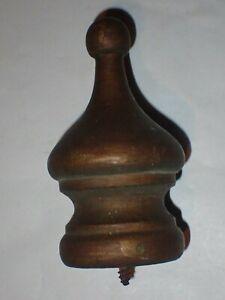 """Vintage Wood Wooden 4"""" Finial"""