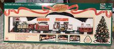 1997 New Bright #177 Santaland Logger Bear Express Train Set In Original Box