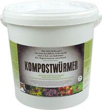 KOMPOSTWÜRMER - 1000 Stück/Eimer - Kompost-Starter Regenwürmer - Eisenia Kompost
