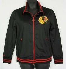 Mitchell   Ness Womens Black Red Chicago Blackhawks Hockey Track Jacket Sz  XL e217cfa8c