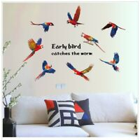Removable Flying Parrot Wall Sticker Birds Animal Decal Art Home Bed Room Decor