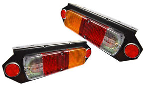 Tail Lights Lamps with Brackets Suit Toyota Hilux Tray Back Ute
