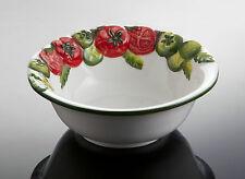 BASSANO runde Servierschale Tomate italienische Keramik Relief Neu 17x6