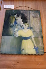 MODEL CARRIAGE WORKS REVERSE PAINTING ON GLASS ADVERTISMENT 9X12 CIRCA 1910