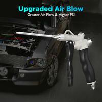 Air Blow Gun Set Trigger Tool Compressor Duster Tool Machine W/ 2 Size Nozzles