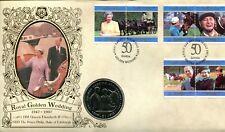 Benham Royal Golden Wedding Coin Cover 1997 Samoa