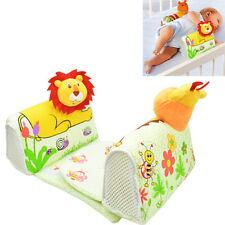 Infant Newborn Baby Anti Roll Pillow Sleep Positioner Prevent Flat Head Cushion