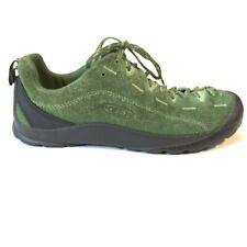 Keen Womens 7.5 Jasper Outdoor Hiking Suede Tie Green Shoe EUC