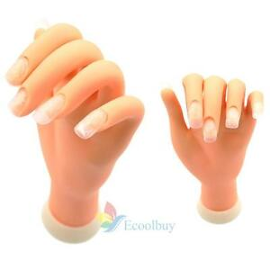 New Hot Flexible Soft Plastic Flectional Mannequin Model Hand Nail Art Practice