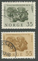Norway Scott#s 452-453, Cato M. Guldberg & Peter Waage by Fredriksen, Used, 1964