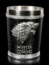 Game of Thrones Schnapsbecher - Winter is Coming - Schnapsglas GOT Stark Wolf