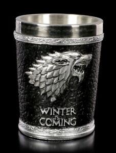 Game of Thrones Schnapsbecher - Winter is Coming - Schnapsglas GOT Stark Wolf