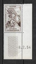 ALGERIE Française  1954  1 timbres neufs ** Pour les anciens combattants (6146)
