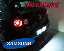 VW Golf MK4 MK5 actualización Blanco Brillante 6000K Bombillas LED Luz de actualización de número de placa Placa